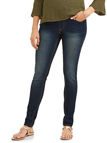 (RUMOR HAS IT Maternity Over The Belly Super Soft Stretch Skinny Jeans (3X, Dark))