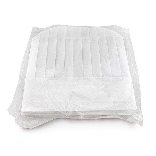New Star 32185 Disposable Non Woven Round Chef Hat, 12-Inch, White, Set of 10 by New Star Foodservice (Image #2)