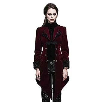Amazon.com: Devil Fashion Steampunk Gothic Womens Tailcoat