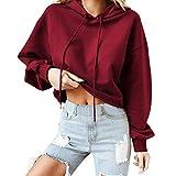 Spbamboo Womens Tops Hoodie Round Neck Sweatshirts Pullover Long Sleeve Shirts