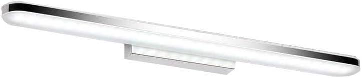 Simple Espejo De La Lámpara LED Moda Antiniebla Humedad Acrílico Dresser Iluminación De Baño R/20/01/04 (Color : White, Size : 16w/80cm)