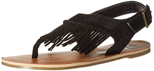 Sandal All Kvinners Tassled Billabong Flat Svart Av Op6wnq