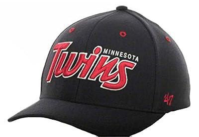Minnesota Twins Navy Blue Flex Fit Hat Size Large / X-Large XL Cap - Best Fits 7 1/2 Through 7 3/4