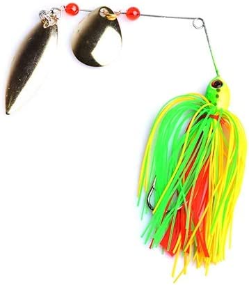 Colorful Spoon Fishing Lure Spinner Fishing Buzzbait Silicone Skirt Fishing Bait