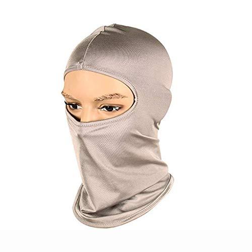 ZTMN Outdoor Four Seasons Anti-Mosquito Sleeping Mask Windproof and Dustproof Fishing Hunting Mask Headgear Grey