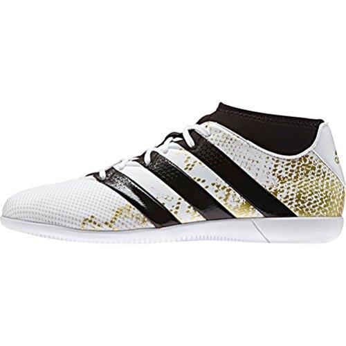 呼び出すオープニングティーンエイジャーadidas ACE 16.3 Primemesh IN (White/Metallic Gold/Black)/サッカーシューズ  ACE 16.3 Primemesh インドア用 (8.5 US size)