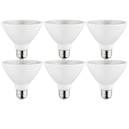 Sunlite 40979 LED Par30 Short Neck Light Bulb, Dimmable, 27K Warm White, 6 Pack