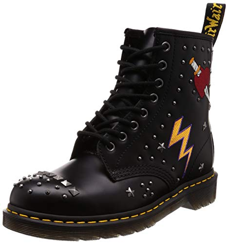 Dr. Martens - Unisex-Adult 1460 8 Eye Boot, Size: 8 D(M) US / 7 F(M) UK / 9 B(M) US, Color: Black Smooth