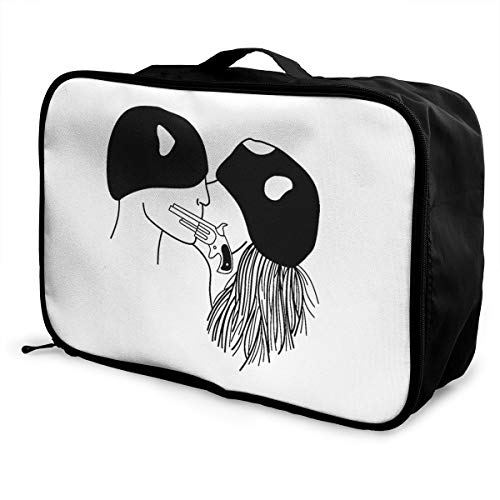 Bonnie And Clyde Lightweight Large Capacity Portable Luggage Bag Fashion Travel Duffel Bag