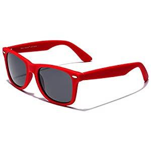 Retro Rewind Classic Polarized Sunglasses,Red   Smoke Polarized