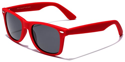 Retro Rewind Classic Polarized Sunglasses,Red | Smoke - Red Sunglass