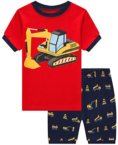 Boys Short Pajamas Truck Toddler Pjs Clothes Kids Sleepwear Summer Shirts Size 2t