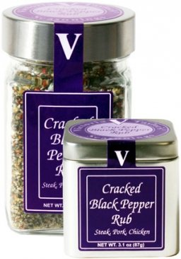 Cracked Black Pepper Rub – Victoria Taylor's 5.5 Oz Jar – made with Organic Whole Peppercorns to give this Spice Rub a Fresh Ground Black Pepper Taste – Great on ()