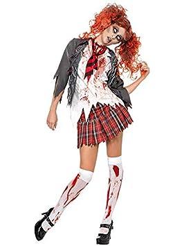 DISBACANAL Disfraz de Colegiala Zombie para Mujer - Único, M ...