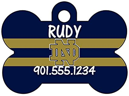 uDesignUSA NCAA Dog Tag Pet Id Tag Personalized w Name   Number (Notre Dame cca739258
