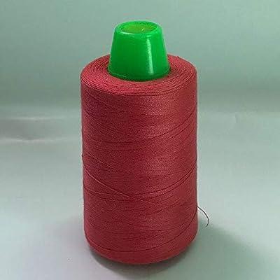 Laliva - Hilo de coser para máquina (algodón y gasa), color rojo ...