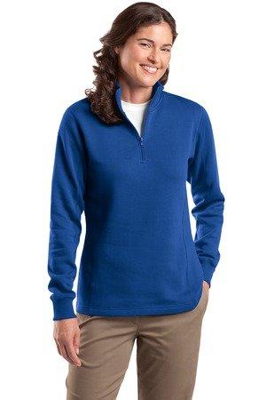(Sport-Tek Ladies 1/4 Zip Sweatshirt, Royal, Small)