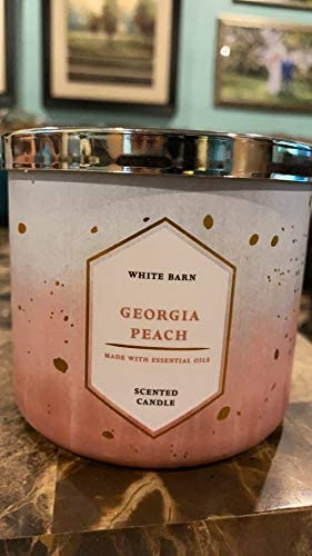 1 Bath /& Body Works PEACH Low-Profile Large 3-Wick Candle 14.5 oz