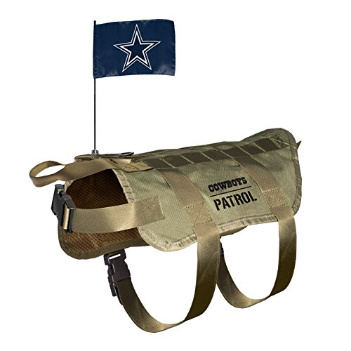 NFL Dallas Cowboys Pet Tactical Vest, Medium/Large