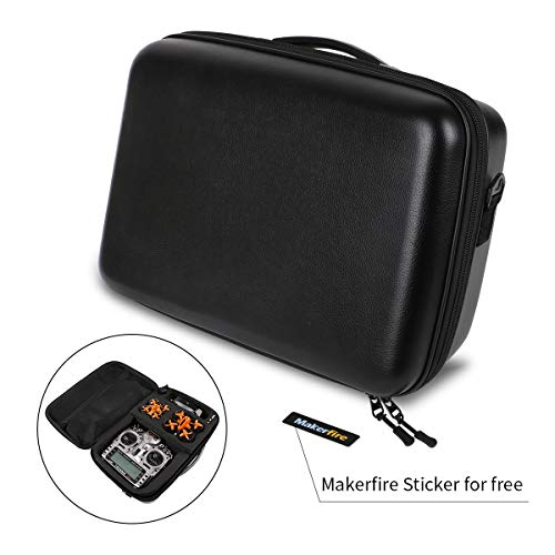 Makerfire Backpack Hardshell Carrying Case Travel Case Drone Storage Box for Tiny Whoop Eachine E010 QX90 QX95, X9D Transmitter, Fatshark FPV Goggles,Batteries and Battery Charger ()