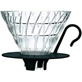 Hario VDGN-02B V60 New Glass Coffee Dripper 02, Black
