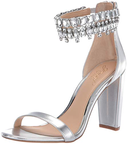 Badgley Mischka Jewel Women's Dancer Heeled Sandal, Silver/Metallic, 8 M - Jewel Sandals Metallic