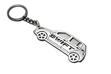 Amazon.com: Keychain With Ring For Suzuki Swift 2005- Steel ...