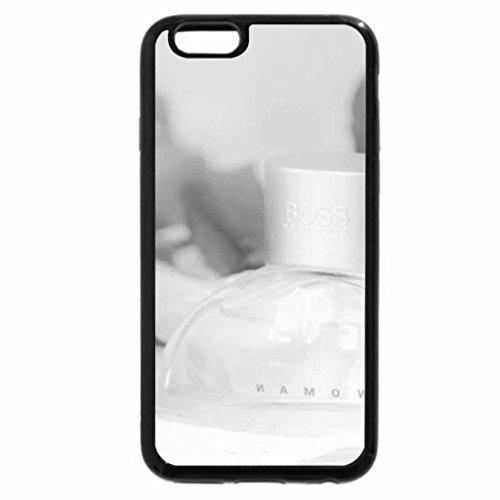 iPhone 6S Plus Case, iPhone 6 Plus Case (Black & White) - Rose fragrance