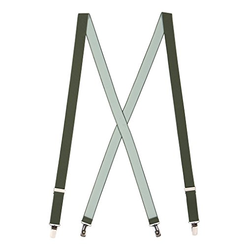 Suspender Store Mens Bright Olive Green Suspenders - 1 Inch (Bright Olive)