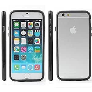 PEACH ships in 48 hours Ultra Slim Bumper Frame Case for iPhone 6 (Assorted Colors) , Black
