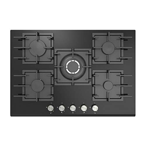 Empava 30' 5 Italy Sabaf Burners Gas Stove Top Gas Cooktop Black Tempered Glass LPG/NG Convertible EMPV-30GCA11