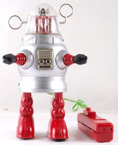 20 cm high Remote Control battery operated tin plate robot - piston action by Iauctionshop (Image #3)