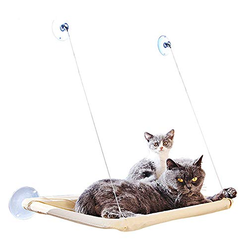 okdeals Cat Window Perches, Cat Sunny Seat Window Cat Perch Suction Cups Space Saving Pet Resting Seat Safety Cat Shelves - Providing All Around 360° Sunbath for Cats Weighted up to 33lb