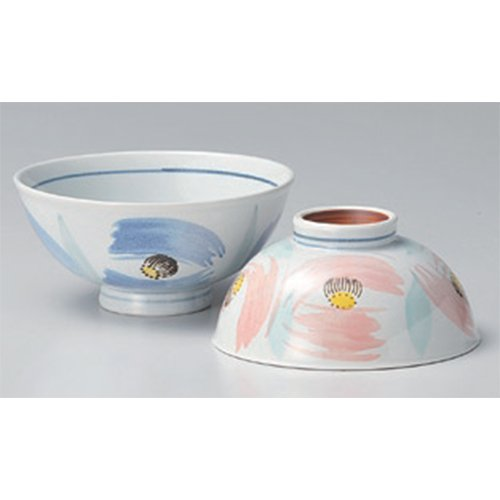 Rice Bowl Set utw425-1--2-794 [larger 5.2 x 2.4 inch smaller 4.8 x 2.3 inch] Japanece ceramic Flower dance Dae set tableware