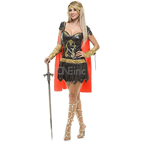Charades Women's Warrior Queen Costume, As Shown, Large for $<!--$33.55-->