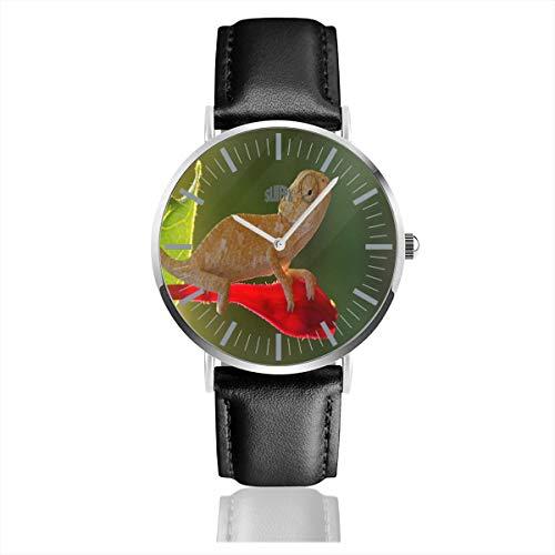 Chameleon Reptiles Animals Men's Wrist Watches Luxury Waterproof Quartz Casual Watch Women ()