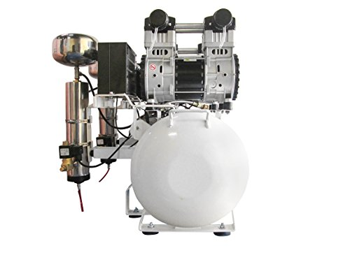 California Air Tools 20040DCAD Ultra Quiet & Oil-Free 4.0 hp, 20.0 gallon Steel Tank Air Compressor with Air Drying System & Auto Drain, White