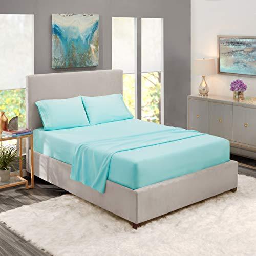 Nestl Bedding Soft Sheets Set - 4 Piece Bed Sheet Set, 3-Line Design Pillowcases - Wrinkle Free - 10