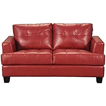Amazon.com: Bowery Hill Contemporáneo Tufted Loveseat en ...