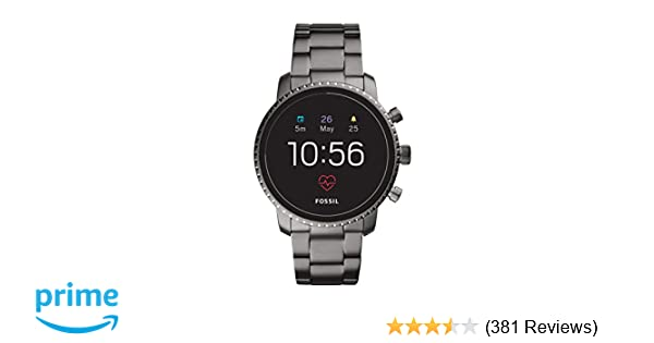 01b310b5615f Amazon.com  Fossil Men s Gen 4 Explorist HR Heart Rate Stainless Steel  Touchscreen Smartwatch