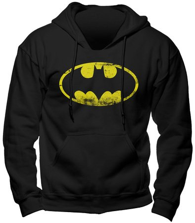 Batman - sudadera con capucha - logo del superhéroe de DC Comics - gran calidad - estampado frontal grande - negra - XXL: Amazon.es: Hogar