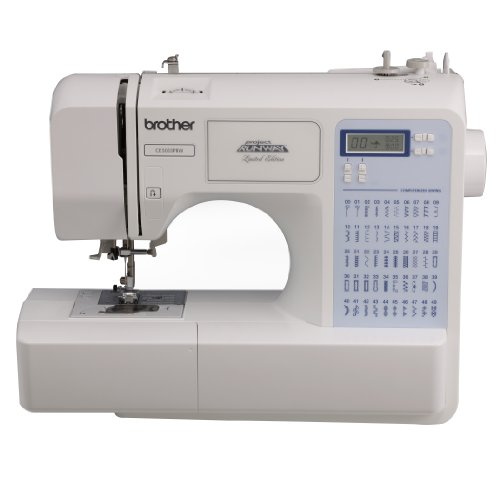 Brother Project Runway CS5055PRW Electric Sewing Machine - 50 Built-In Stitches - Automatic Threading - Ship Sewing Machine