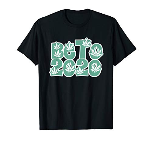Beto 2020 Legalize Pot Leaf Weed Outline Shirt Vote ()