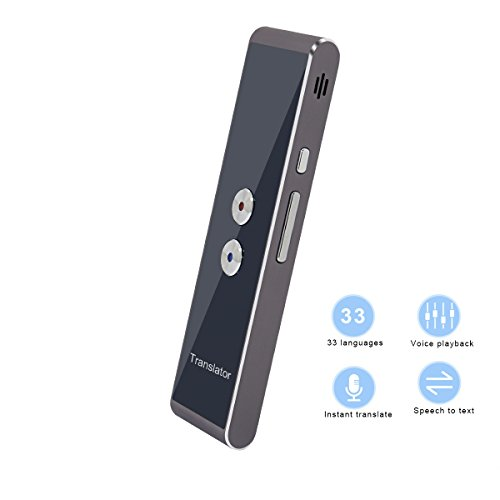 Language Translator Device, Handheld Smart Voice Instant Translation for Travel Shopping Business Learn, Work with APP Online, 33 Languages English Chinese French Spanish German