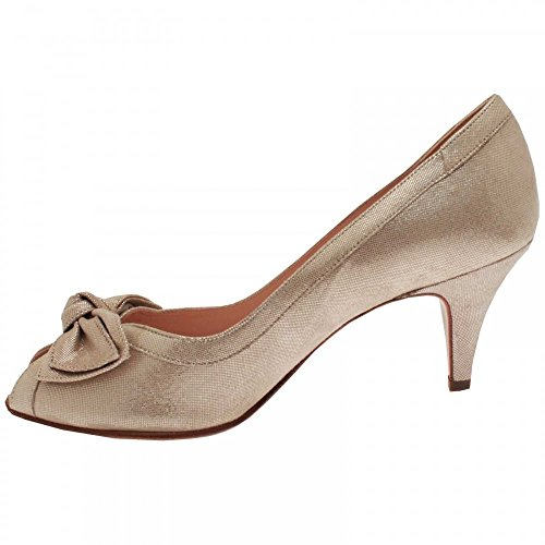 Peter Kaiser Satyr Peep Toe Shoes Gold