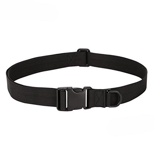 Canvas Trousers - Zhikang68 buckle versatile tactical belt basic belt Canvas Outside Army Trouser Buckle Strap Bear Grylls Survival Operator Nylon Belt (Black)
