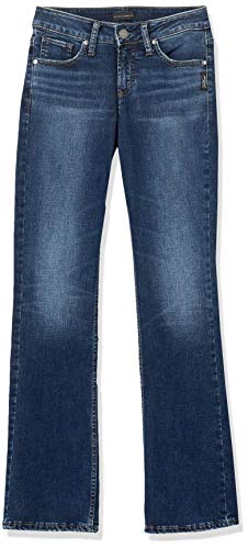 Silver Jeans Co. Women's Suki Mid Rise Slim Bootcut Jeans