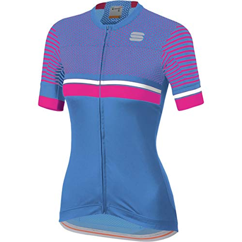 Sportful Diva 2 Short-Sleeve Jersey - Women's Parrot Blue/Bubble Gum/White, S