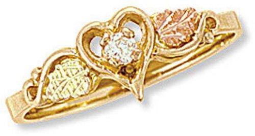 Landstrom 10k Black Hills Gold Ladies Diamond Heart Ring - G L02925X
