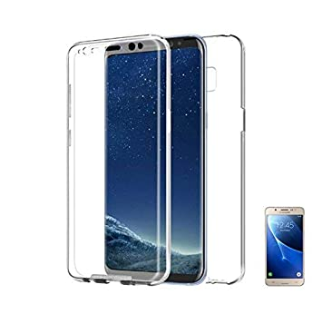 PLANETMOVIL ® Funda Doble Cara 360 Compatible con Samsung Galaxy J5 2017 Funda de Silicona Delantera + Trasera Carcasa rigida Doble Cara 100% ...